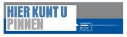 U kunt bij Toko Rinus met PIN betalen